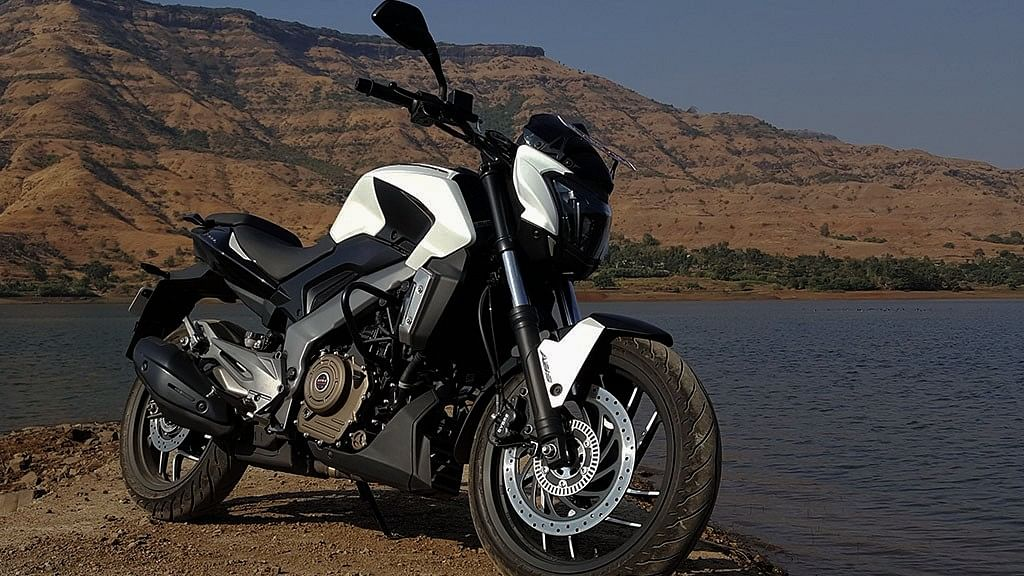 """Bajaj Dominar is the first 400-cc bike from the company. (Photo Courtesy: <a href=""""https://www.motorscribes.com/reviews/bajaj-dominar-d-400-first-ride-impressions-and-lots-more"""">Motorscribes</a>)"""