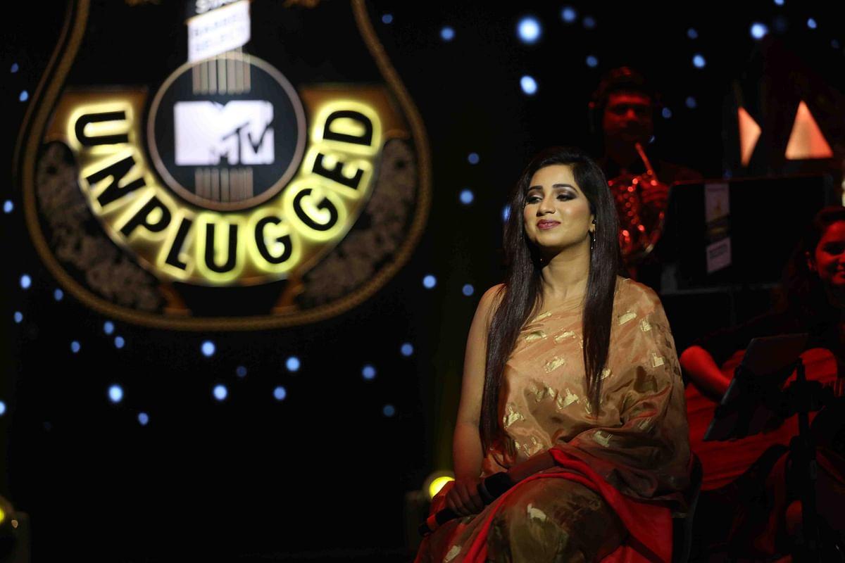 Shreya Ghoshal on MTV Unplugged. (Photo courtesy: MTV)