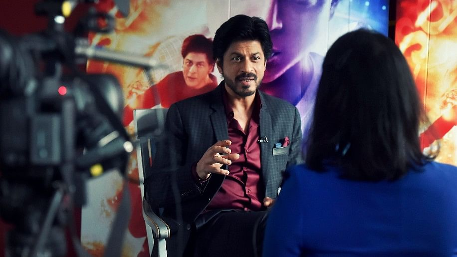 Shah Rukh Khan during an interview at Madame Tussauds, London. (Photo: Reuters)