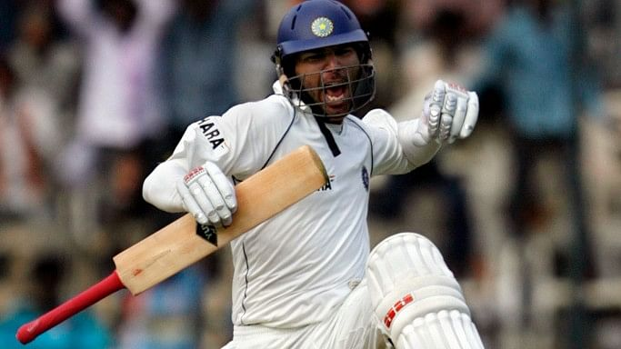 Yuvraj Singh celebrates after completing his century. (Photo: Reuters)