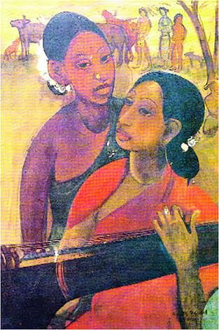 'Veena Players' by Sher-Gil, part of Lahore Museum permanent collection.
