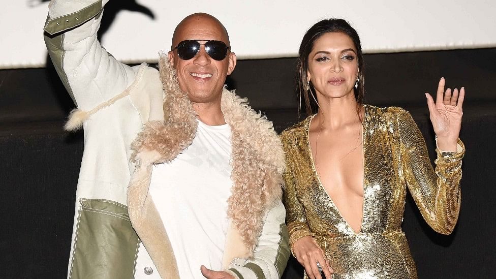 Vin Diesel and Deepika Padukone at the premiere of <i>xXx: The Return of Xander Cage </i>in Mumbai. (Photo: Yogen Shah)