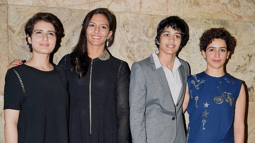 Fatima Sana Shaikh, Geeta Phogat, Babita Kumari and Sanya Malhotra. (Photo: Yogen Shah)
