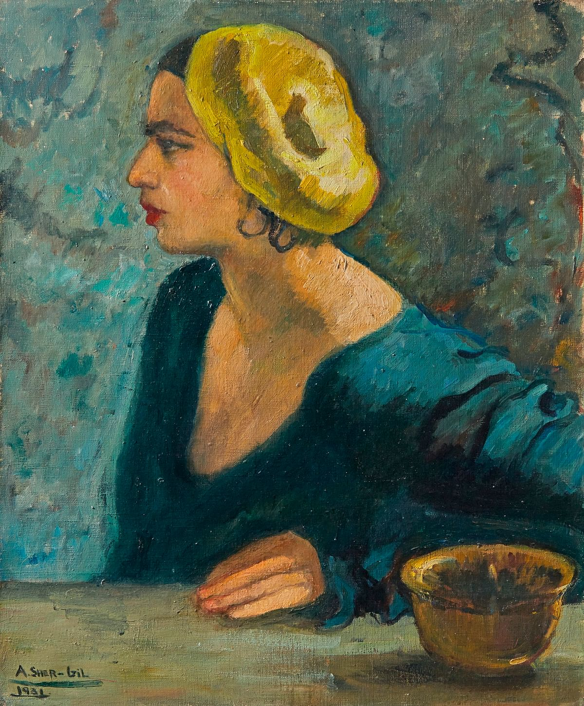 A self-portrait by Amrita Sher-Gil that sold for a record $2.92 million at Sotheby's in 2015. (Photo: Sahar Zaman)
