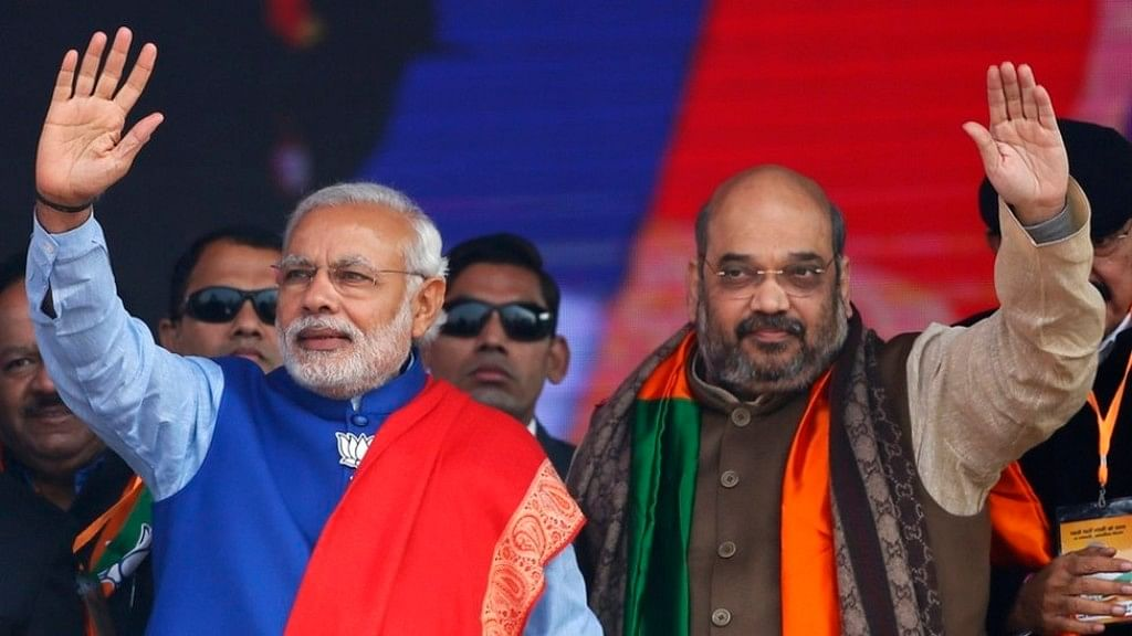 File image of Prime Minister Narendra Modi and BJP chief Amit Shah. (Photo: Reuters)