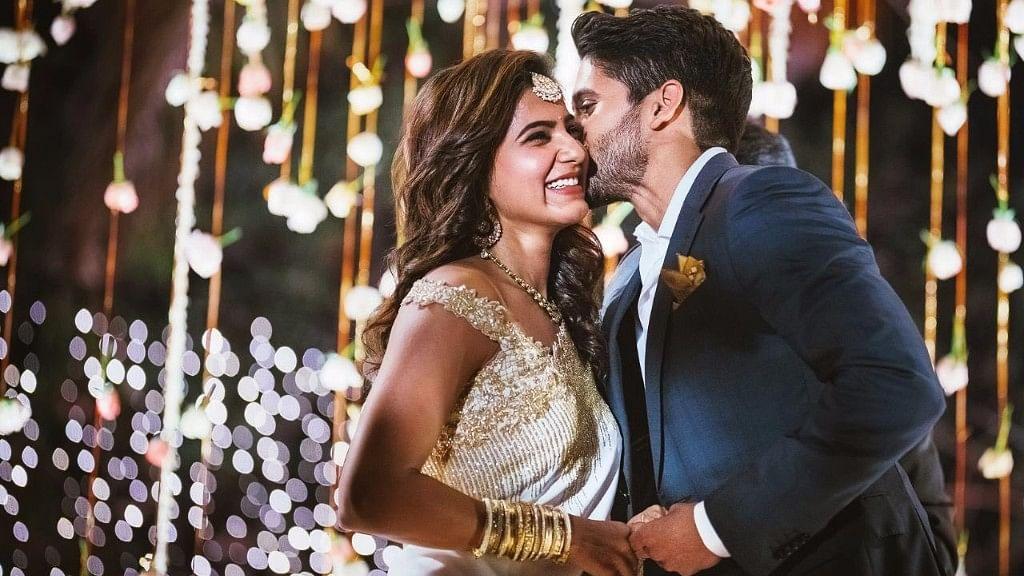 The big fat Telugu filmi engagement. (Photo courtesy: Twitter)