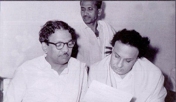 M Karunanidhi and MGR.