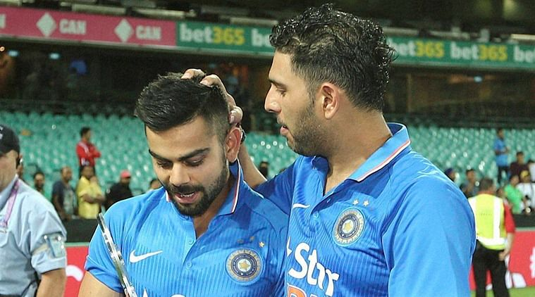 Virat Kohli (L) and Yuvraj Singh (R). (Photo: AP)