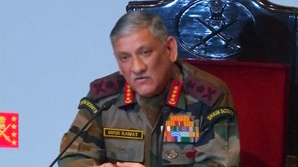 Indian Army Chief Bipin Rawat.