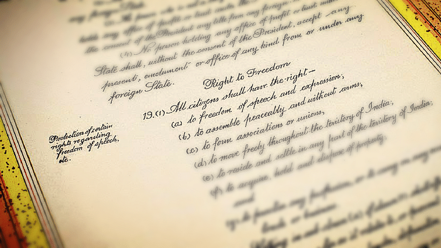 "A picture of the original manuscript. (Photo courtesy: <a href=""https://plus.google.com/118092972326422169139/posts/bbSY7eV7TmX?sfc=false"">Prem Foundation</a>; Altered by <b>The Quint</b>)"