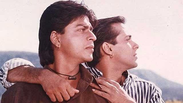 Salman Khan looks back at his 'Karan Arjun' days with Shah Rukh Khan and Hrithik Roshan. (Photo: Film still from Rakesh Roshan's <i>Karan Arjun</i>)
