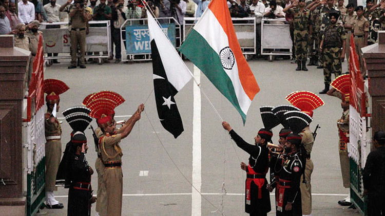 The Wagah border. (Photo: PTI)