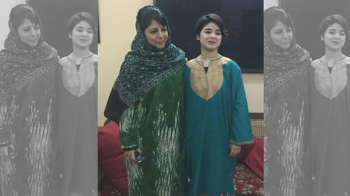 Zaira Wasim with Jammu and Kashmir Chief Minister Mehbooba Mufti. (Photo courtesy: Muhammad Mukaram)
