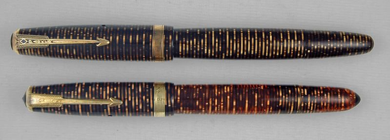 "A Wilson pen kept next to a Parker Vacumatic. (Photo courtesy: <a href=""https://munsonpens.wordpress.com/2009/02/09/imitation-is-the-sincerest-form-of-flattery-wilson-pen-company/"">Munson Pens' Blog</a>)"