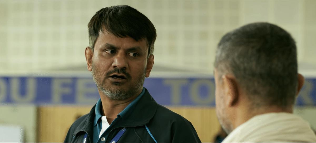 Girish Kulkarni as the conniving coach in <i>Dangal.</i>