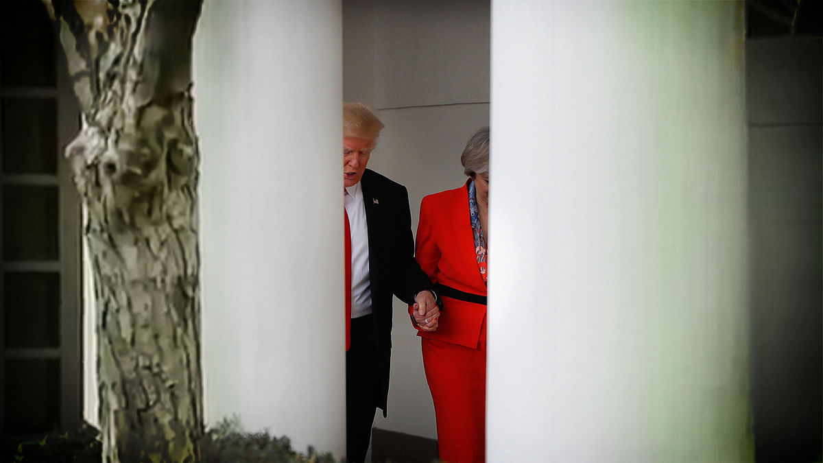 Trump Grabs UK PM May (By the Hand, Thankfully) and It Is Awkward