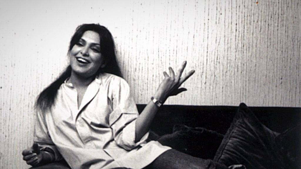 A candid moment from the troubled life of Parveen Babi.