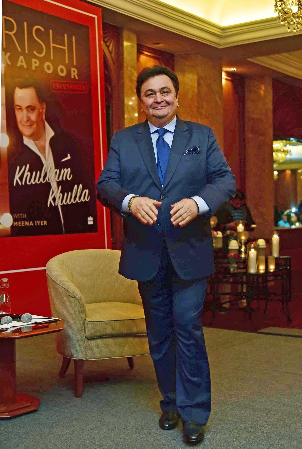 Rishi Kapoor launches his biography. (Photo: Yogen Shah)
