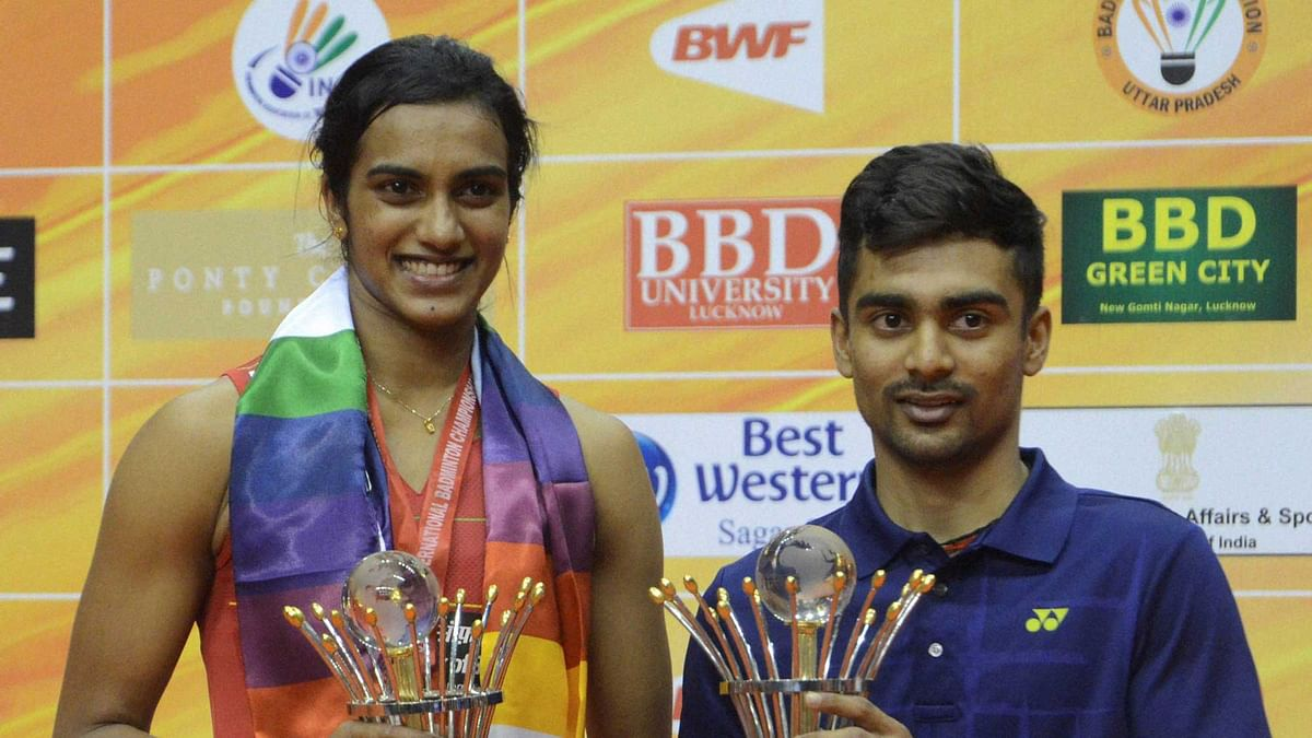 In 2018, Sameer Verma (right) won the men's honours in two Super 300 events – while PV Sindhu claimed the women's singles crown in the World Tour Finals in Shanghai