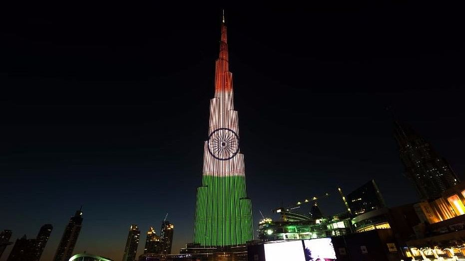 The World's Tallest Tiranga: Burj Khalifa Lights up in Tricolour