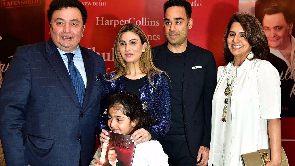 Rishi Kapoor with wife, Neetu Singh and daughter, Riddhima Kapoor Sahani. (Photo: Yogen Shah)