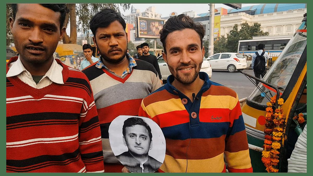 """Akhilesh has done a lot in the last 5 years,"" says Mohammed Shabaz Khan, a <i>tempowala</i>. (Photo: <b>The Quint</b>/Vatsala Singh)"