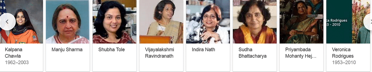 (Screengrab when you search Indian women in science: Google)