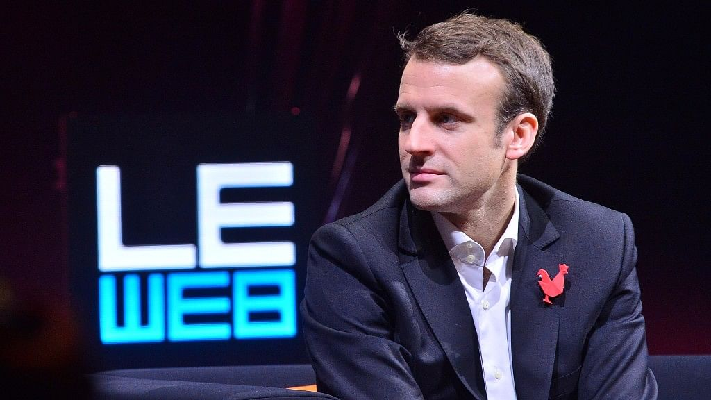 """Macron is running for president in France's upcoming elections. (Photo Courtesy: <a href=""""https://www.flickr.com/photos/leweb3/"""">Flickr</a>)"""
