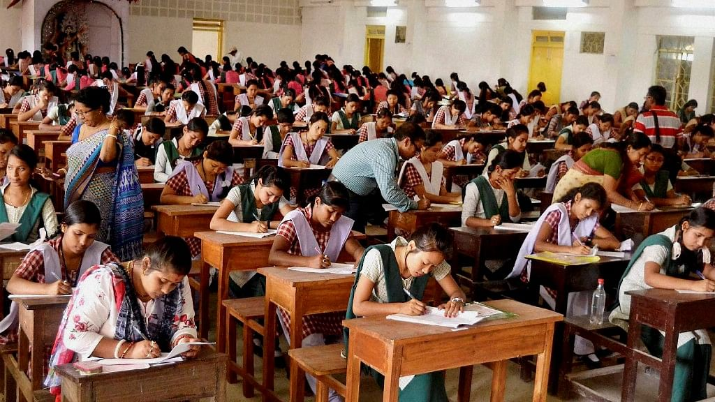 Representational image of students appearing for  board exams.