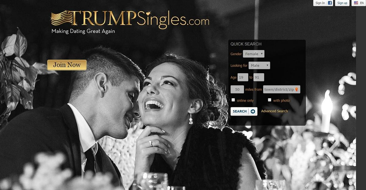 """It costs $19.95 a month to use the website. ( Photo: <a href=""""http://https://trumpsingles.com/"""">TrumpSingles</a>)"""