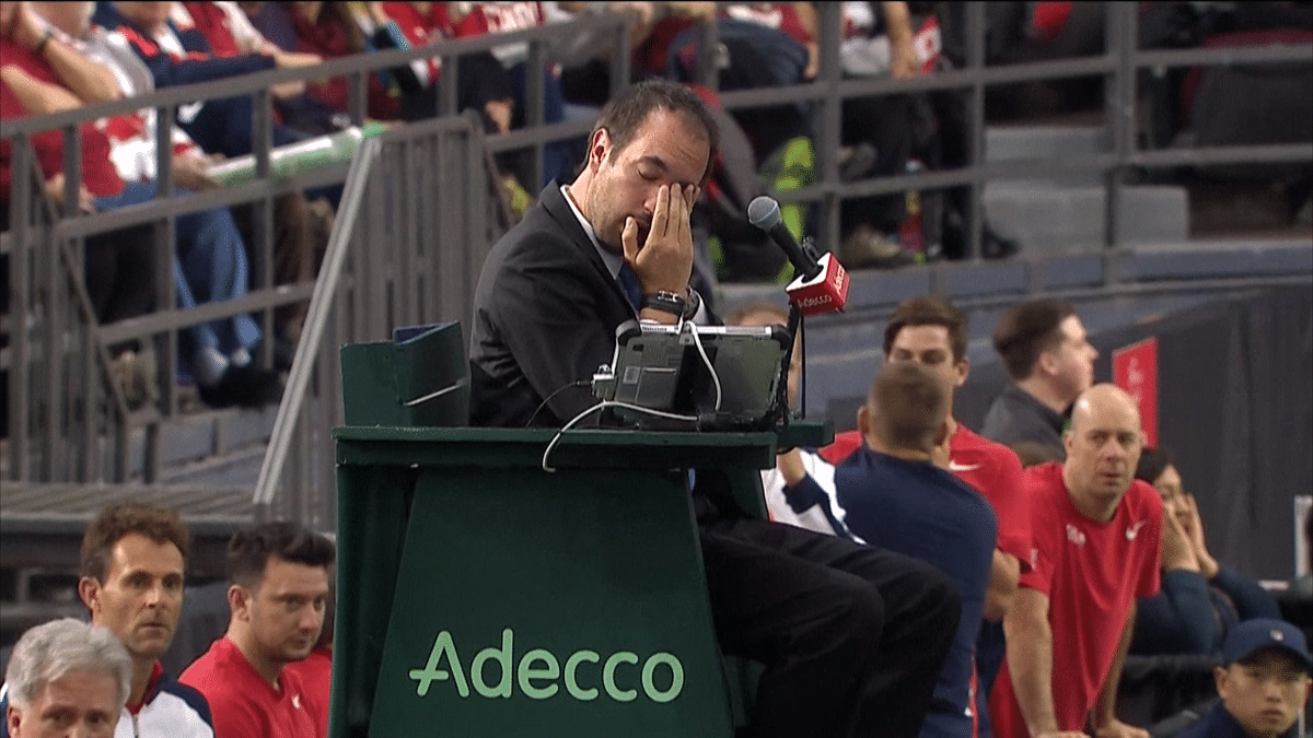 Watch: Canadian Davis Cup Player Strikes Ball... at Umpire!