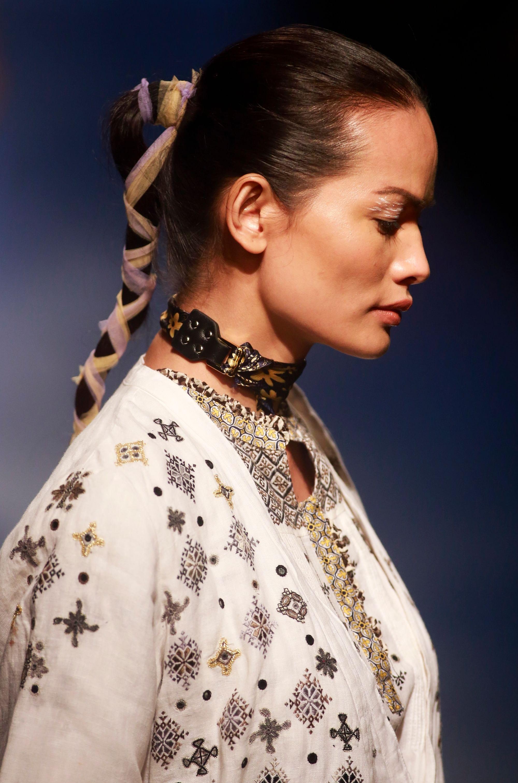 Indias first transgender model Anjali Lama makes catwalk