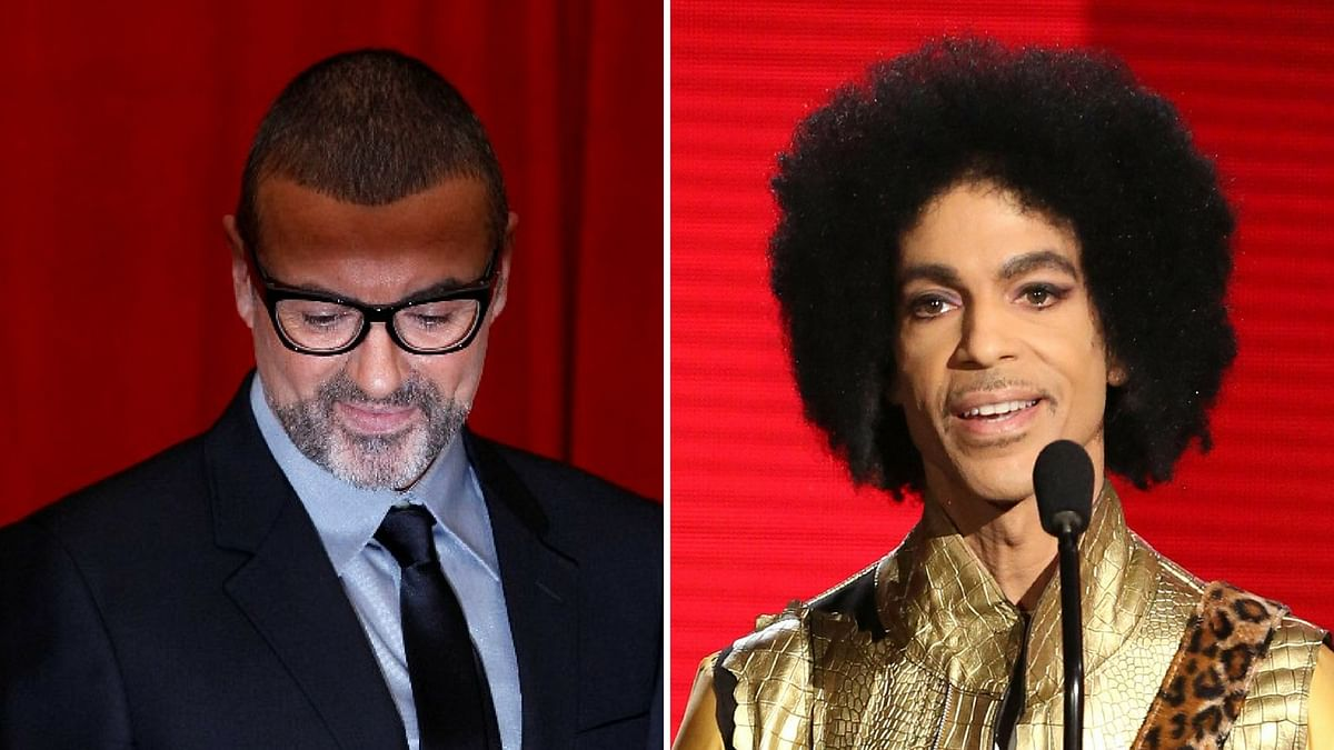 George Michael (left) and Prince (right). (Photo: Reuters/AP/The Quint)