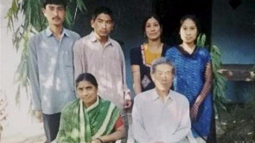 Wang Qi with his family. (Photo: PTI)