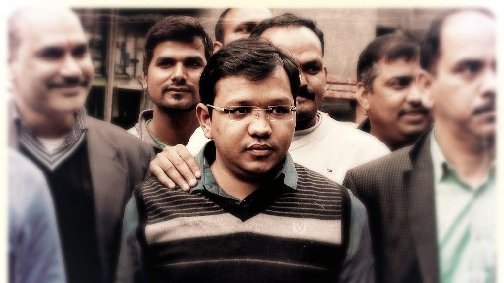 Anubhav Mittal, founder of Social Trade, in police custody. (Photo: ANI)