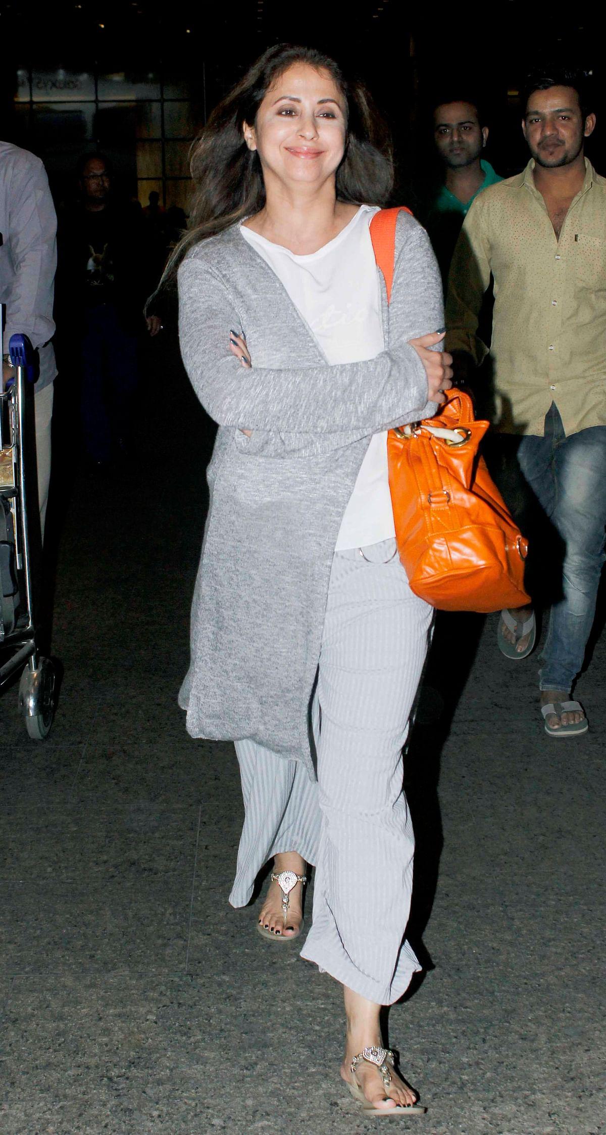 We also spotted Urmila Matondkar at the airport. (Photo: Yogen Shah)
