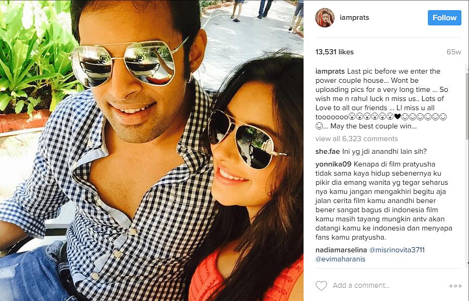 "The last post on Pratyusha Banerjee's Instagram account. (Photo Courtesy: Instagram/<a href=""https://www.instagram.com/p/9ScA8GhkoY/?taken-by=iamprats&amp;hl=en"">Pratyusha Banerjee</a>)"