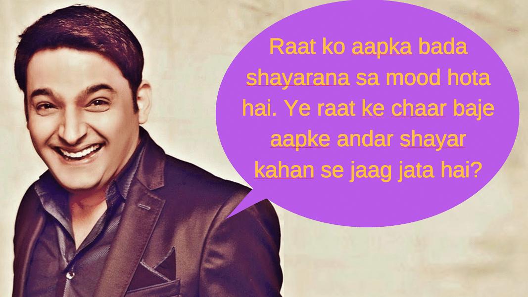Kapil Sharma on the Kapil Sharma show to Shah Rukh Khan.
