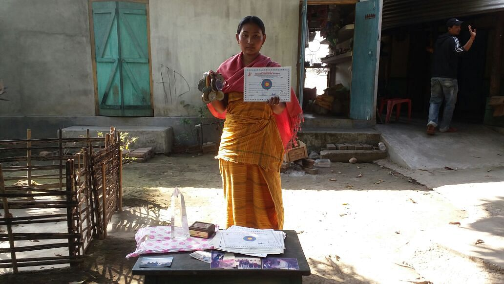 Buli with her medals and certificates (Photo: <b>The Quint</b> / Anjana Dutta)