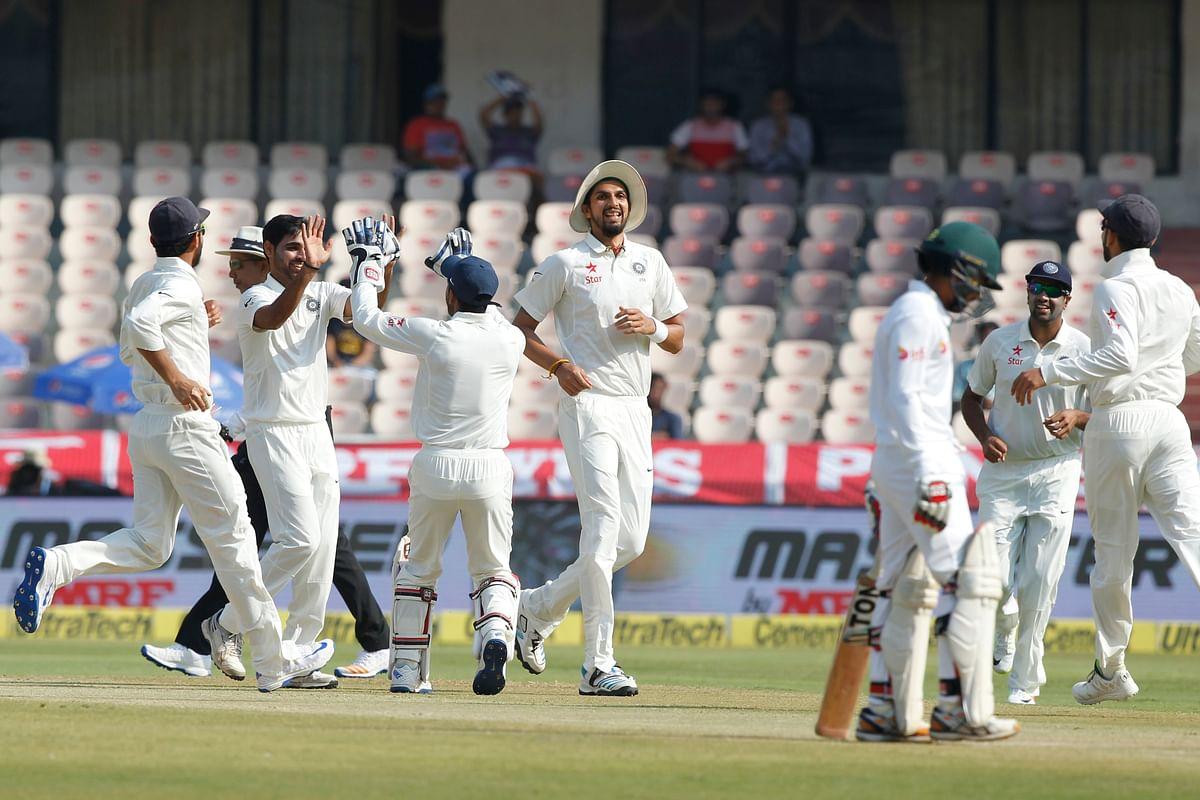 Bangladesh lost five wickets on Saturday. (Photo: BCCI)