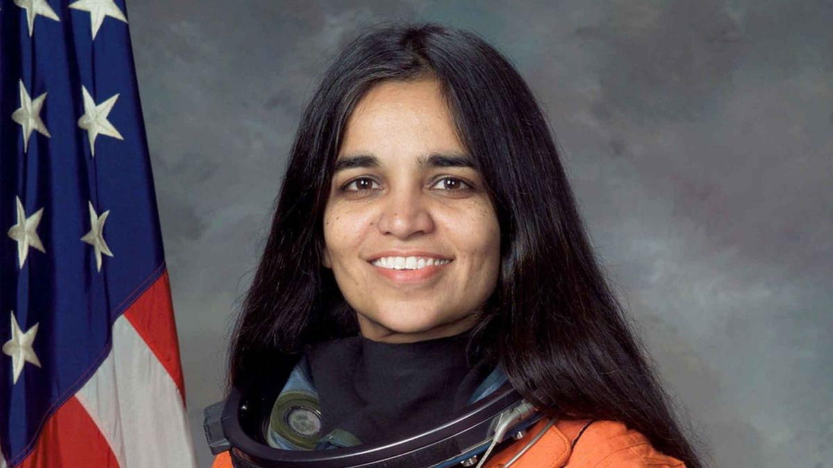 "Kalpana Chawla, an Indian American astronaut and the first woman of Indian origin in space. (Photo Courtesy: <a href=""https://editor.thequint.com/story/99f23a2a-5705-4db4-9375-10486b2b0560"">NASA</a>)"