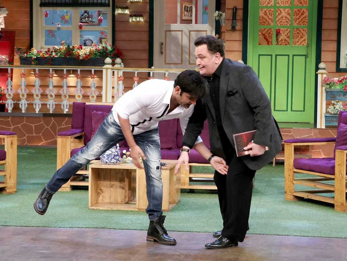 Rishi and Kapil on the sets of <i>The Kapil Sharma Show</i>. (Photo: Yogen Shah)