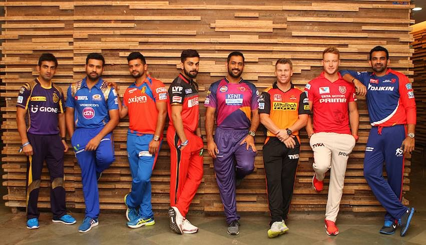 """Captains of all the 2016 IPL teams. (Photo Courtesy: Facebook/<a href=""""https://www.facebook.com/pg/IPL/photos/?ref=page_internal"""">Indian Premier League</a>)"""