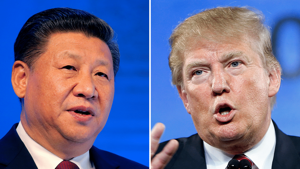 File photo of China's President Xi Jinping and US President Donald Trump.
