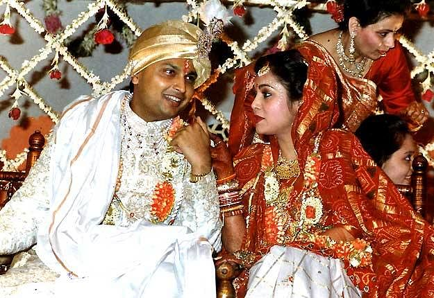 The Ambanis at their wedding. (Photo courtesy: Facebook/ 101filmstars)