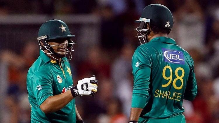 A file photo of Khalid Latif (left) with Sharjeel Khan. (Photo Courtesy: Reuters)