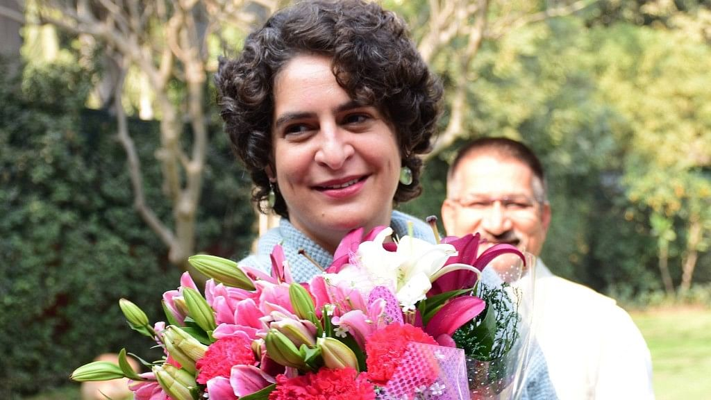 """Priyanka Gandhi being greeted by party workers on her birthday. Photo for representational purposes. (Photo: <a href=""""https://www.facebook.com/PriyankaGandhi.in/?fref=ts"""">Facebook.com/PriyankaGandhi.in</a>)"""
