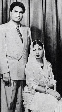 Meena Kumari with Kamal Amrohi. (Photo courtesy: Pinterest)