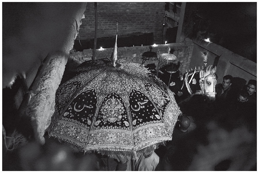 A Muharram procession in Srinagar, 2015.