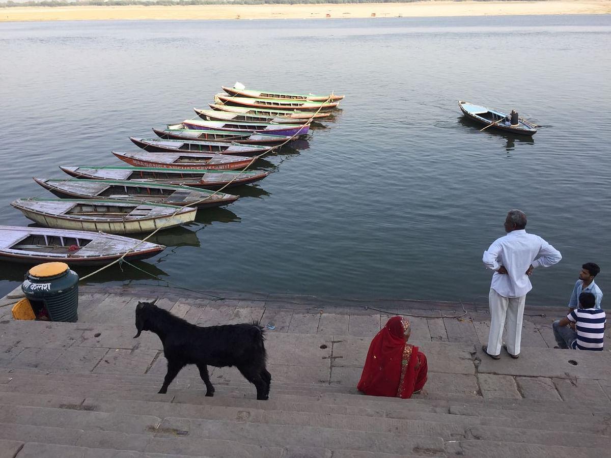 On the ghats in Varanasi. (Photo: Jyoti Malhotra)